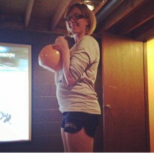 Kettlebells and baby bumps.